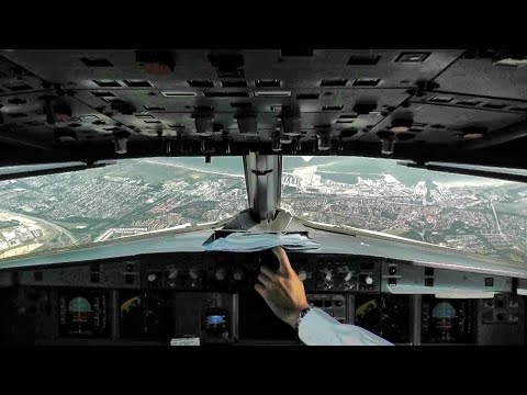 Cockpit View - Air France Airbus A318-100 [F-GUGD] Stunning Summer Landing in Copenhagen Airport