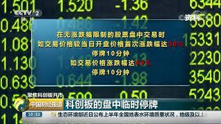 [中国财经报道]聚焦科创板开市 科创板的盘中临时停牌| CCTV财经