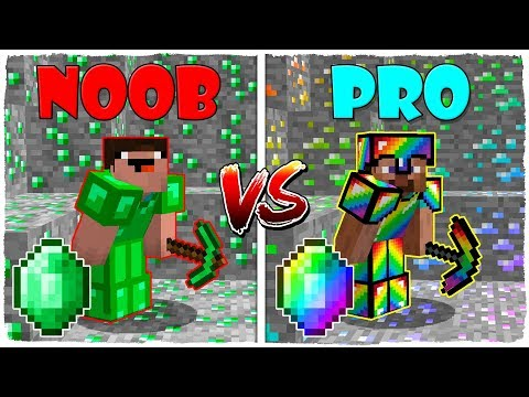 Minecraft NOOB vs PRO: BATALLA DE ESMERALDA y ARCOÍRIS en Minecraft! thumbnail