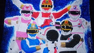 Desenhando ChangeMan / Speed Drawing Dengeki Sentai Chenjiman