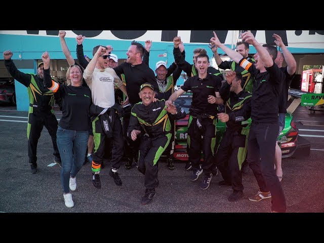 VR Racing celebrating victory in Belcar 3 and P3 overall