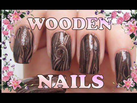 """Wooden Nails/Water Nail Art/""""Деревянные""""ногти"""