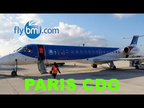 Europe's BEST REGIONAL Airline? FLY BMI Embraer From Bristol, UK To Paris CDG France Flight Review