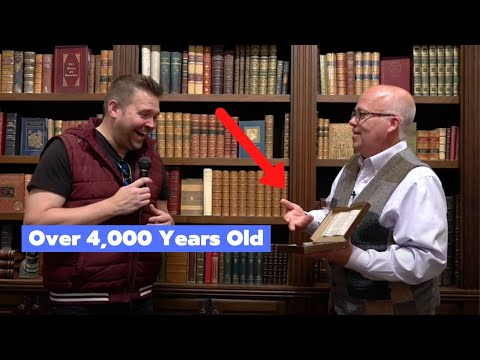 Book Expert Shares Entire HISTORY OF THE BIBLE Using Authentic Artifacts | Moon's Rare Books