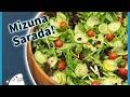 Mizuna salad with Baby greens and Yuzukosho dressing