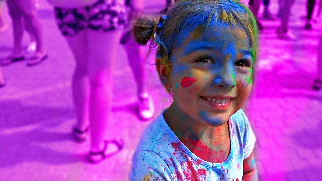 Liza Learn Colors with holi festival colorful day video for kids