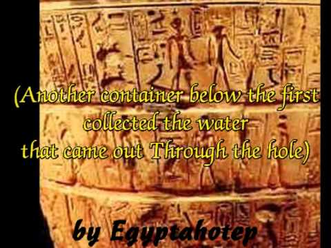EGYPT 309 - CLOCKS in ANCIENT EGYPT - (by Egyptahotep)