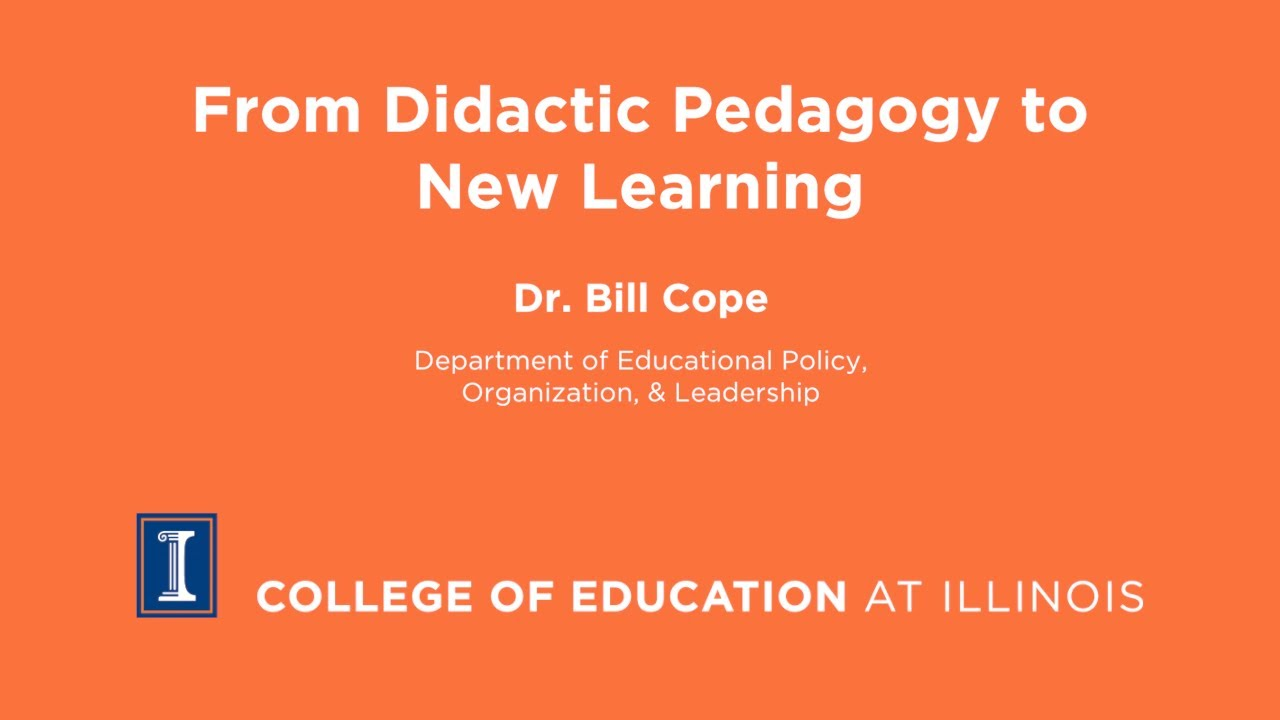 From Didactic Pedagogy To New Learning Youtube