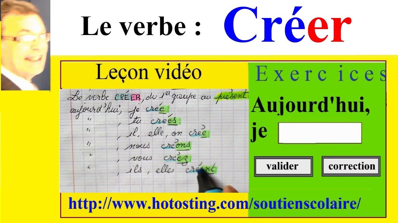 Conjugaison Exervices Verbe Creer A L Imparfait Au Present Et Au Futur Youtube