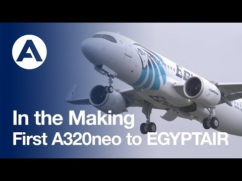 In the Making: First #A320neo to EGYPTAIR