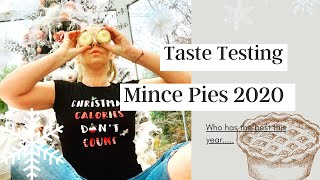 MINCE PIE TASTE TEST UK 2020 | The BEST Mince Pies YOU Can BUY This Christmas - Tanya Louise