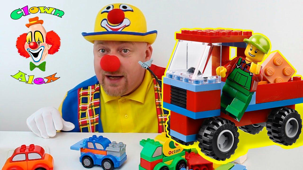 Giocattoli macchinine lego per ragazzi, Clown Alex Divertenti video con giochi da Magic Toys ...