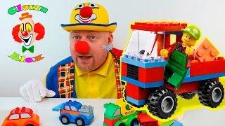 Giocattoli macchinine lego per ragazzi, Clown Alex Divertenti video con giochi da Magic Toys Center
