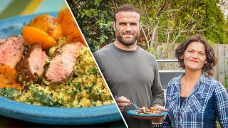 Moroccan Lamb Steaks with Jamie Roberts