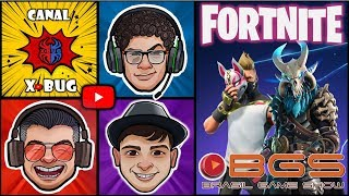 FORTNITE E BGS - BRASIL GAME SHOW - X BUG