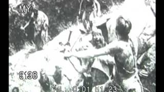 Stock Footage - TRIBE OF PRIMITIVE PEOPLE