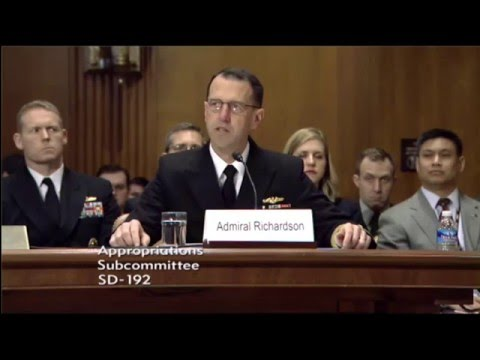 CNO Testifies on FY17 Navy Budget Proposal