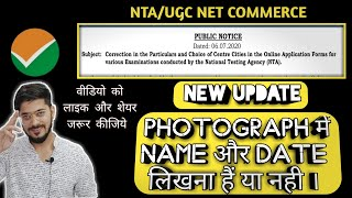 Correction in Scanned Photograph UGC/NTA NET | Date, Name and White Background Problem |