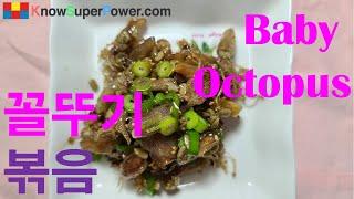꼴뚜기볶음 Stir-fried Baby Octopus …