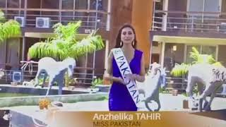 Anzhelika Tahir Miss Pakistan World at Face of the Universe 2017