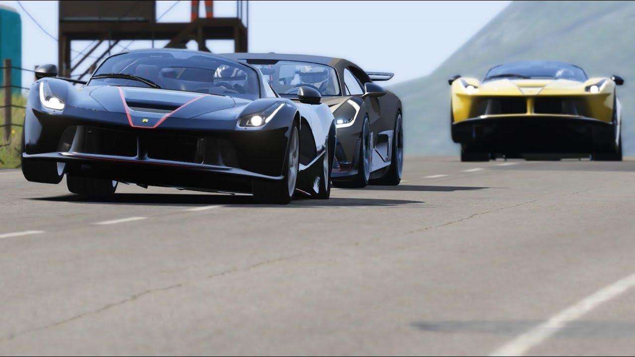 Bugatti Divo vs Ferrari LaFerrari Aperta at Highlands - YouTube