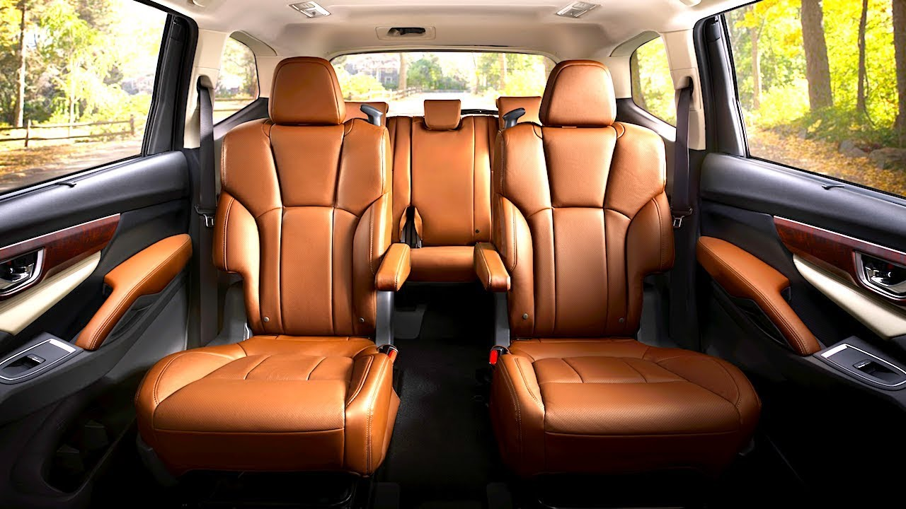 Subaru Ascent Interior 8 Seater Luxury Edition In Detail