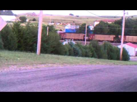 Train going thru mullen Nebraska