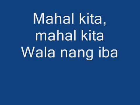 mahal kita lyrics by maricris garcia