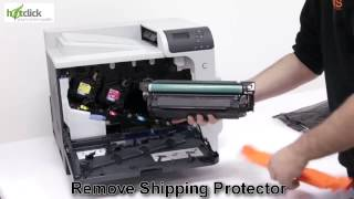 HP 4525 Toner Cartridge Replacement - user guide CE260A,1,2,3