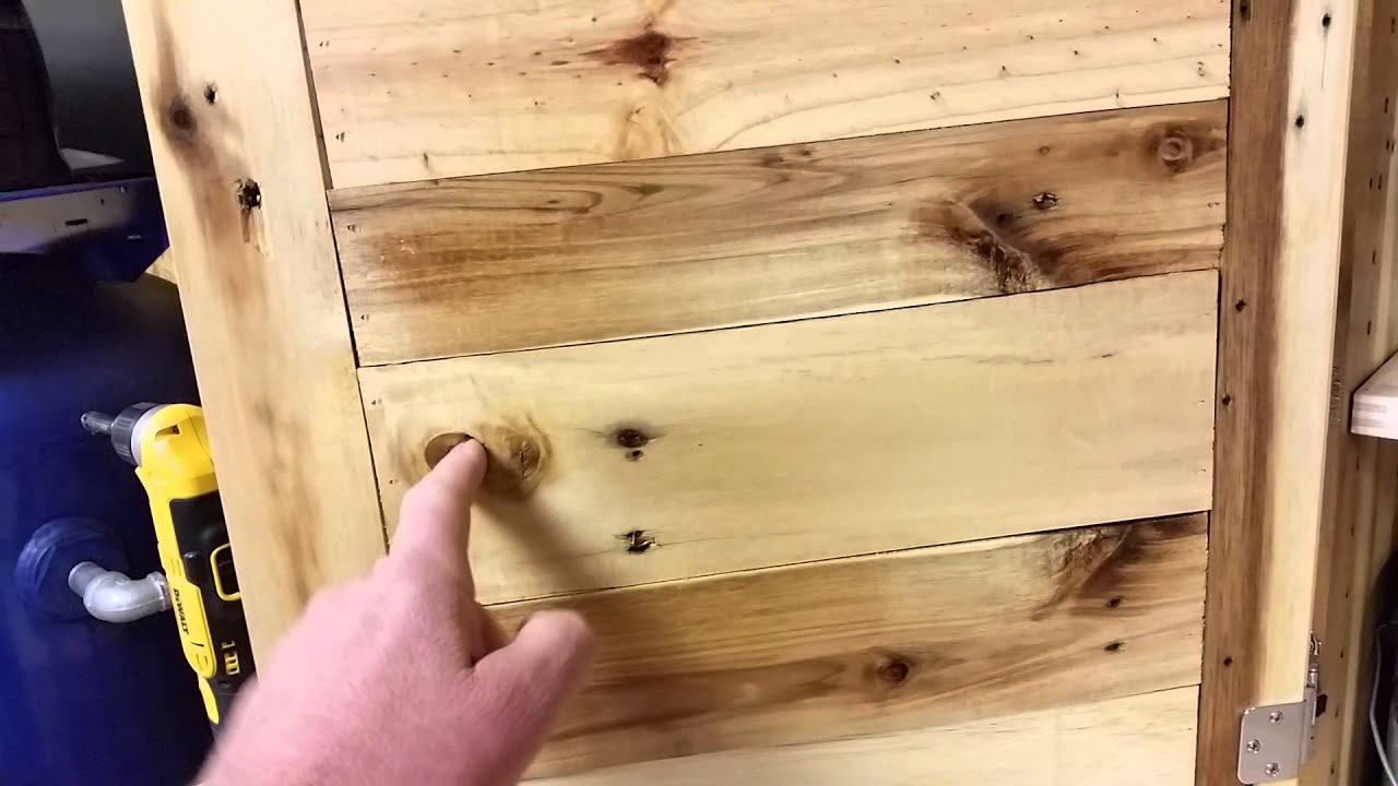 Pallet Wood Cabinet Pt2   YouTube