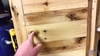 Pallet Wood Cabinet Pt2