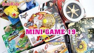 Mini Game 19: Đại Chiến Vô Cực Con quay hoàng kim, Con quay hồi chuyển, Chiến xa thần thú, Mecard...