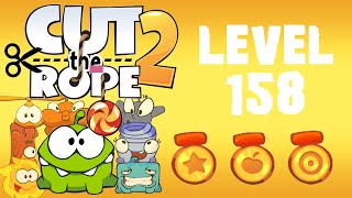 Cut the Rope 2 - Level 158 (3 stars, 63 fruits, 3 stars + beat the timer)
