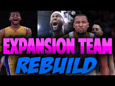 EXPANSION TEAM REBUILD!! BEST REBUILD EVER!!  - NBA 2K17 MYLEAGUE