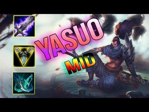 Yasuo Mid   Yasuo Tiệc Bể Bơi   Lướt Như Siêu Nhân   Cách chơi và lên đồ   Liên Minh Huyền Thoại