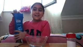 Şampuanla ve Tuz Slime yapılışı