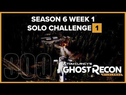 Ghost Recon Wildlands Ep 300 - S06W01 Solo Challenge 1 Kill Santa Blanca from 150m  