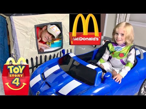 Toy Story 4 McDonalds Happy Meal Drive Thru Pretend Play Toys Jaces Playhouse