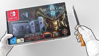 "Nintendo Switch ""DIABLO"" Limited Edition Console Unboxing"