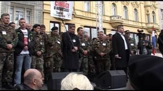 """Gambar cover STOŽER ZA OBRANU HRVATSKOG VUKOVARA -- """"NE ĆIRILICI U VUKOVARU"""" --, ZAGREB 07.04.2013."""