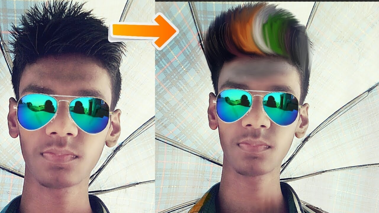Indian Flag Hair Color Style Independence Day Special Using