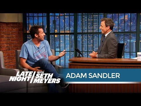 Adam Sandler on Working with Will Forte - Late Night with Seth Meyers streaming vf