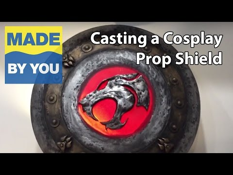 How To Cast a Thundercats Cosplay Prop Shield In Resin and Epoxy Putty