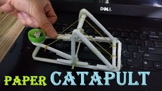 How to make a Powerful Paper Catapult | Toy Weapon