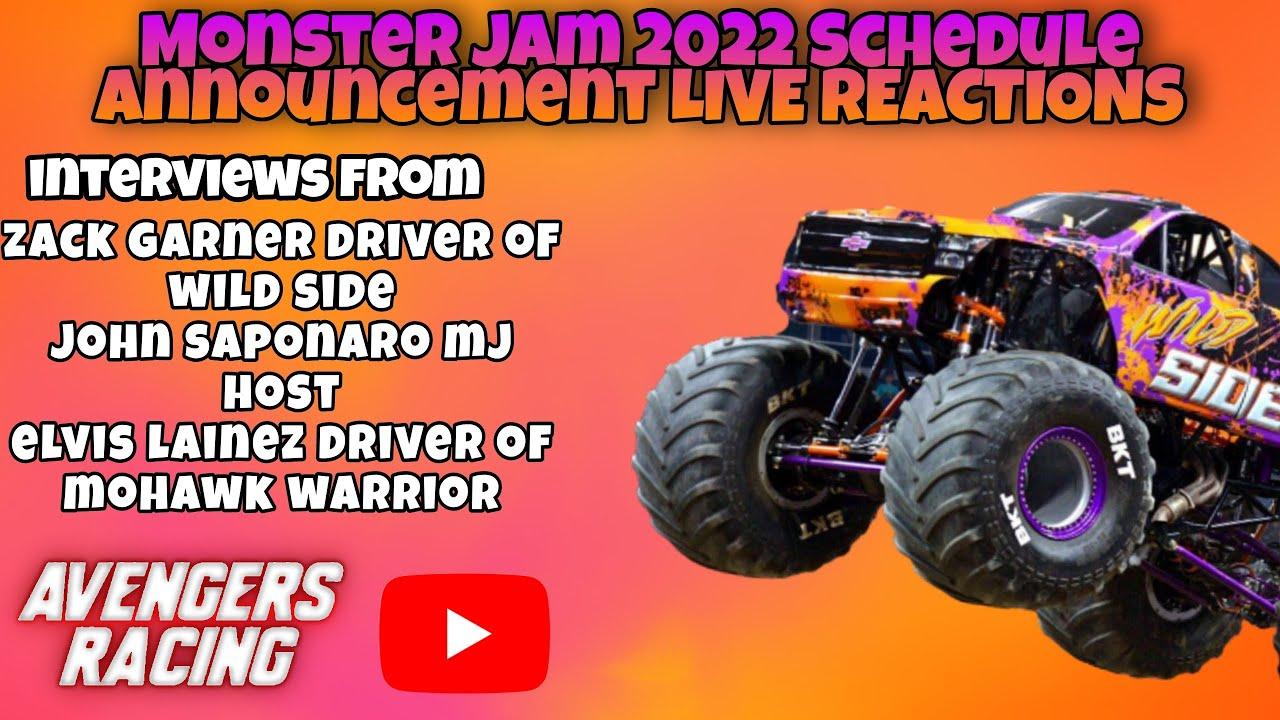 Monster Jam 2022 Schedule Announcement POST LIVE REACTIONS