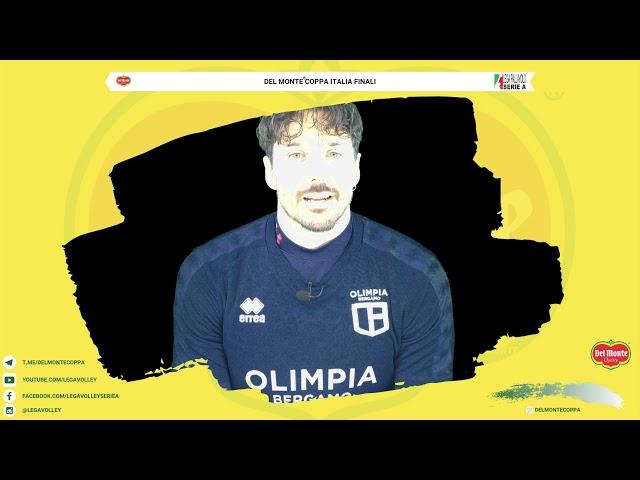 22-02-2020: Dore Della Lunga si presenta alla finale di Del Monte Coppa Italia A2/A3