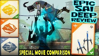 Shadow Fight 3. Dark Cogs - Epic Sai Review! Best Special Move. Mutilation, Barb Leap, Double Edge.
