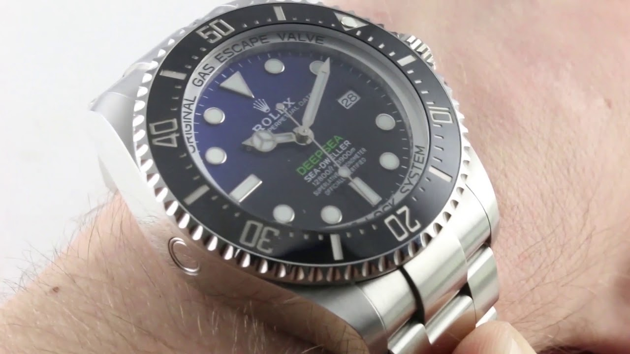 dc2a68ff2 2018 Rolex Deepsea D-Blue 126660 (New Sizing!) Luxury Watch Review ...