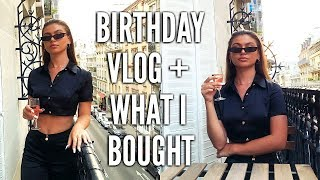 20th birthday vlog what i bought in paris day 3 4