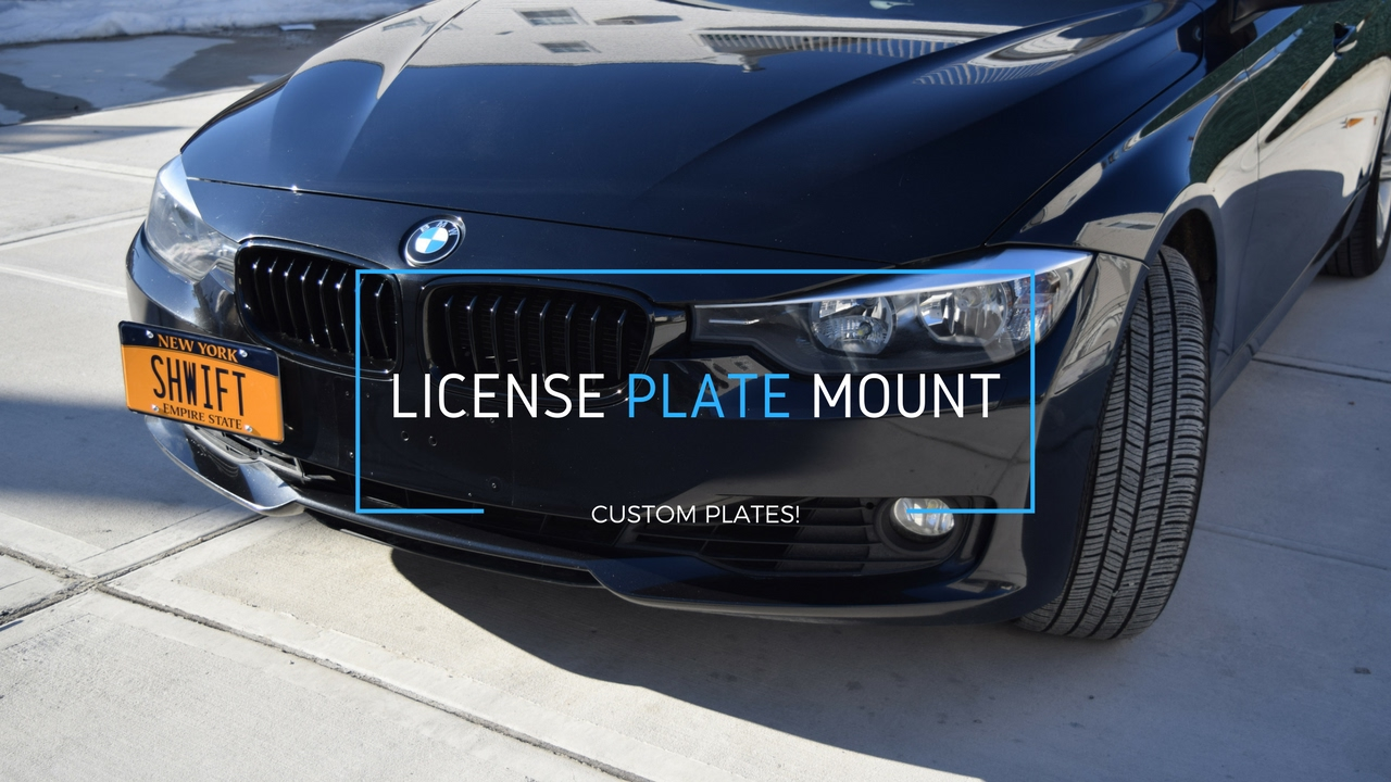 Bmw F30 License Plate Mounting Bracket Custom Plates Youtube